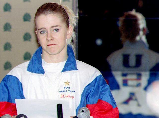 <p>Harding adamantly denied that she had anything to do with the attack in the weeks that followed, but shocked the world when she admitted in a late-January press conference that she'd failed to tell authorities what she knew, though she still denied any involvement. She also made her case for remaining on the Lillehammer Olympic team with Kerrigan. </p>
