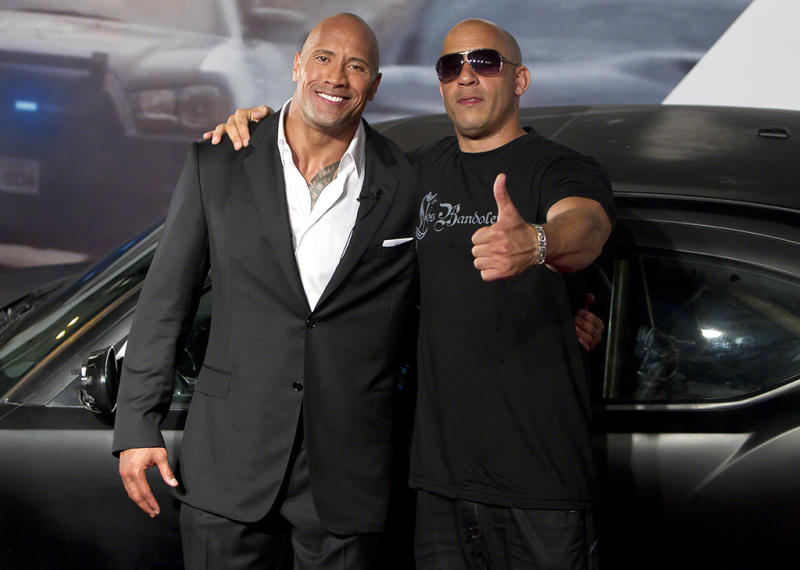 Happier times: Johnson & Diesel at a 'Fast 5' premiere in 2011. (Photo: Buda Mendes/Getty Images)