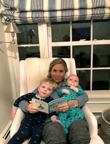 PHOTO: Sydney Williams, of Greenwich, Conn., reads a book to her two sons. (Courtesy Sydney Williams)