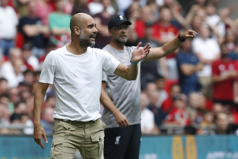 Pep Guardiola said there is very little difference between Manchester City and Liverpool. (Credit: Getty Images)