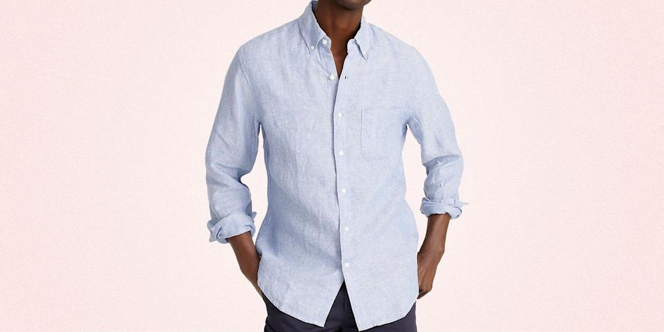 """<p class=""""body-dropcap"""">All of us could use some new fits this summer. Whether you're going back to the office for the first time in a year, partaking in happy hours IRL, or are finally going on your long overdue beachside vacation, now is the time to stock up on essentials. And here to help is <a href=""""https://go.redirectingat.com?id=74968X1596630&url=https%3A%2F%2Fwww.jcrew.com%2Fsale%2Fmen%3Fsub-categories%3Dmens-sale-60-off-select-sale&sref=https%3A%2F%2Fwww.menshealth.com%2Fstyle%2Fg37146294%2Fj-crew-summer-sale-july-2021%2F"""" rel=""""nofollow noopener"""" target=""""_blank"""" data-ylk=""""slk:J. Crew's summer sale"""" class=""""link rapid-noclick-resp"""">J. Crew's summer sale</a>. The retailer has a huge selection, from button-downs to <a href=""""https://www.menshealth.com/style/g36560974/best-board-shorts-for-men/"""" rel=""""nofollow noopener"""" target=""""_blank"""" data-ylk=""""slk:board shorts"""" class=""""link rapid-noclick-resp"""">board shorts</a>, that have prices slashed. What's more, it is offering an additional discount up to 60 percent off on select styles with the code SALEONSALE. </p><p>Going to the Hamptons this weekend? Get your hands on the cotton shorts that come in a range of colors. Client meetings on the horizon? The selection of linen <a href=""""https://www.menshealth.com/style/g28832881/best-button-down-shirts/"""" rel=""""nofollow noopener"""" target=""""_blank"""" data-ylk=""""slk:button-downs"""" class=""""link rapid-noclick-resp"""">button-downs</a> will keep you cool as you move around town. Need a sports coat to pair with it? J. Crew has <a href=""""https://www.menshealth.com/style/a19542568/best-fall-blazers-for-men/"""" rel=""""nofollow noopener"""" target=""""_blank"""" data-ylk=""""slk:breathable blazers"""" class=""""link rapid-noclick-resp"""">breathable blazers</a> that'll do the trick. Indeed, the summer sale has so, so, so many items on offer. And to lend you a hand on that front, we narrowed down the options to the best of the best. </p><p>It's the summer of getting back into the swing of things, and you need to look good doing"""