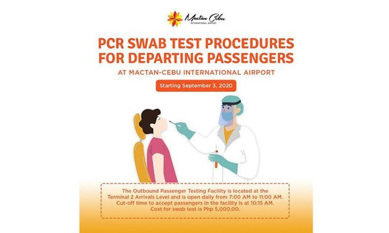 Swab test now available for departing passengers at Mactan airport