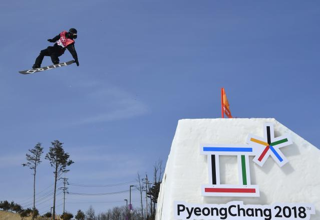 Snowboarding - Pyeongchang 2018 Winter Olympics - Men's Big Air Qualifications - Alpensia Ski Jumping Centre - Pyeongchang, South Korea - February 21, 2018 - Vlad Khadarin, Olympic Athlete from Russia competes. REUTERS/Toby Melville