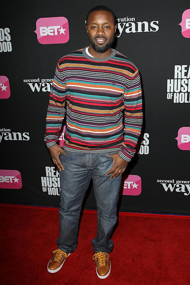 "Rob Hardy arrives at the screenings of BET Networks' ""Real Husbands of Hollywood"" and ""Second Generation Wayans"" held at the Regal Cinemas L.A. Live on January 8, 2013 in Los Angeles, California."