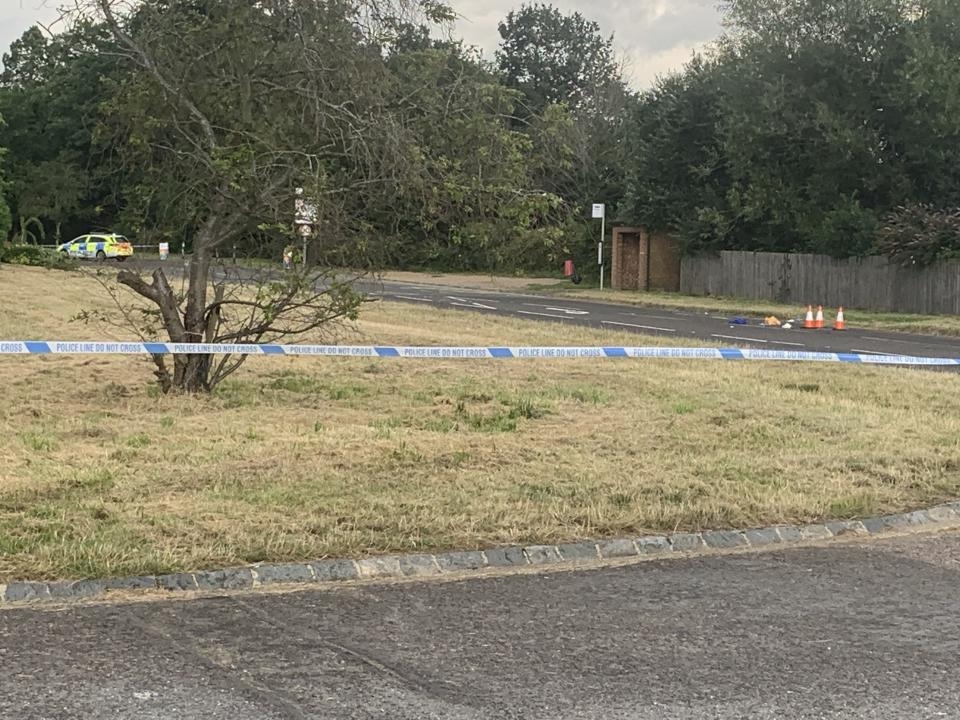 A police cordon at the scene of the assault on Monday night. (Yahoo News UK)