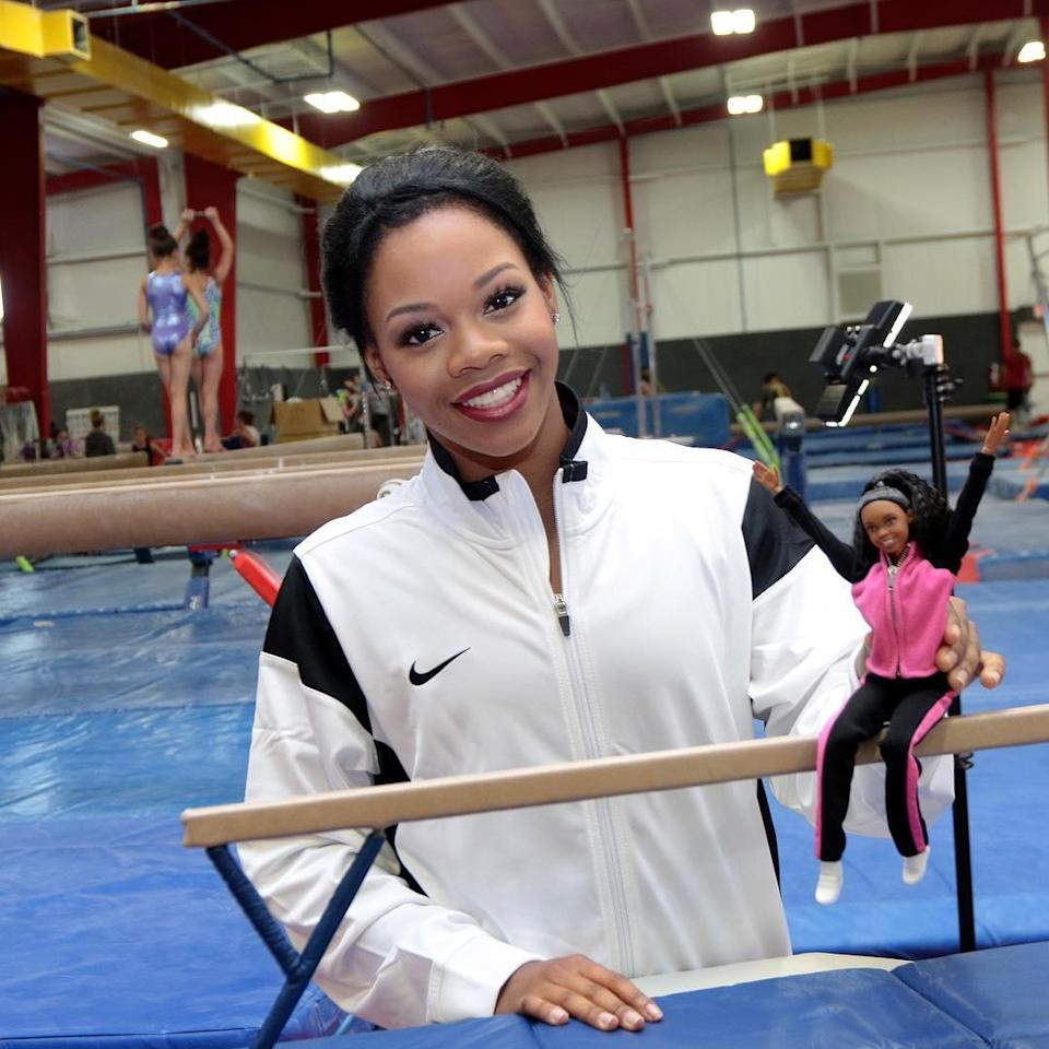 <p>Calling all girly girls! Douglas just recently unveiled her own Barbie doll with the hopes to encourage young people to always chase their dreams. (@gabbycvdouglas on Instagram) </p>