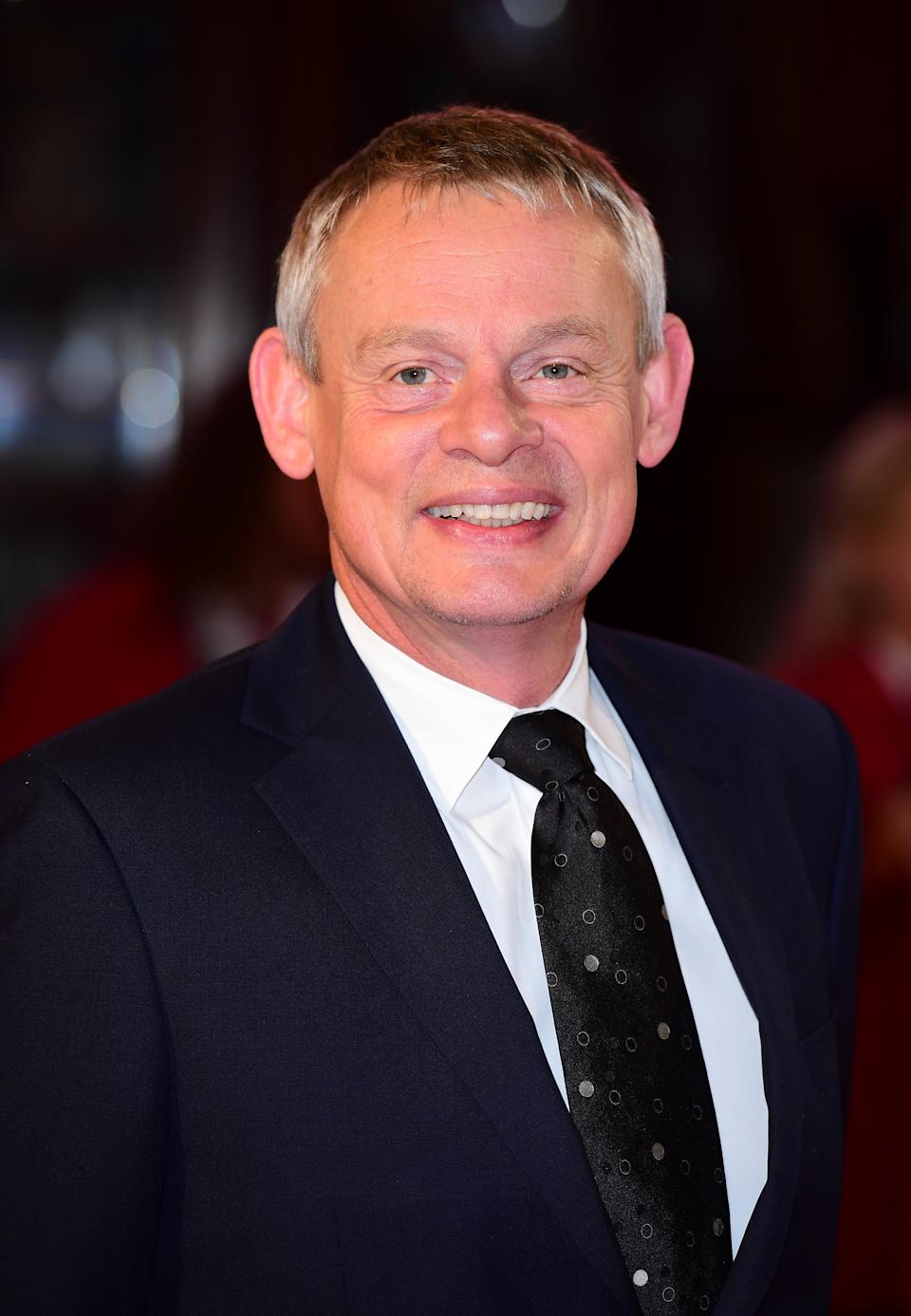 Martin Clunes attending the ITV Gala at the London Palladium. PRESS ASSOCIATION Photo. Picture date: Thursday November 24, 2016. See PA story SHOWBIZ Gala. Photo credit should read: Ian West/PA Wire (Photo by Ian West/PA Images via Getty Images)