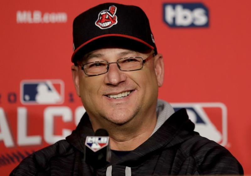 Cleveland Indians manager Terry Francona smiles before Game 1 of the ALCS. (AP)