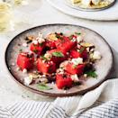 <p>This sweet-and-savory fruit salad recipe is all about the quality of the watermelon: you want its flesh to be really sweet so that all the savory ingredients--the capers, the olives, the feta--shine.</p>
