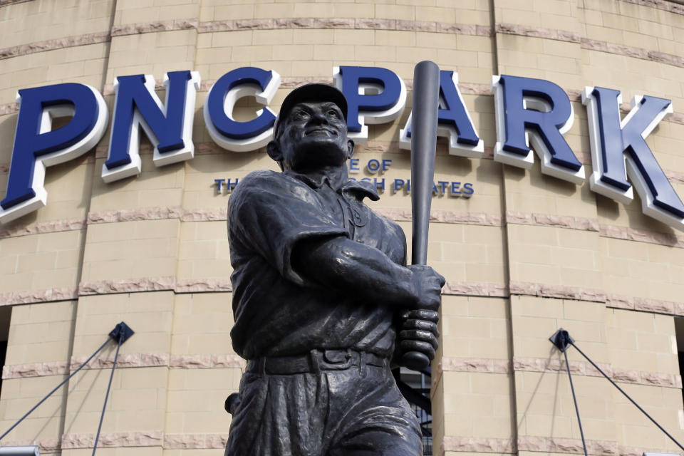 Honus Wagner statue in front of PNC Park.