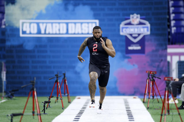 TCU's Ross Blacklock ran a great 40-yard dash during the NFL scouting combine. (Photo by Joe Robbins/Getty Images)