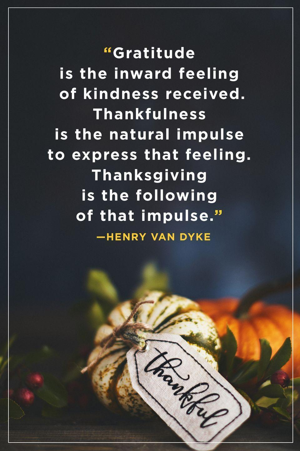 """<p>""""Gratitude is the inward feeling of kindness received. Thankfulness is the natural impulse to express that feeling. Thanksgiving is the following of that impulse.""""</p>"""