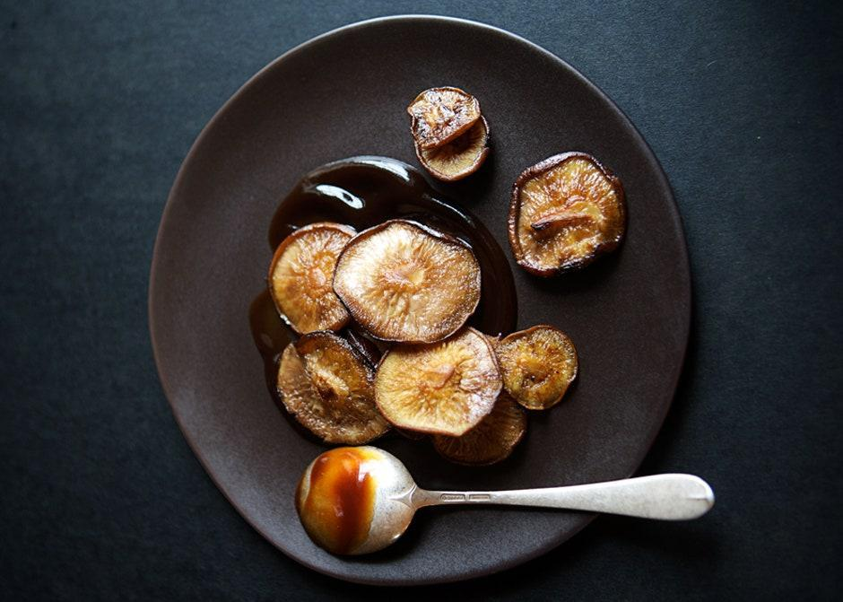 "The mushrooms are not salted as they cook—this is intentional. The teriyaki sauce they're tossed in adds plenty. <a href=""https://www.bonappetit.com/recipe/sauteed-shiitake-mushrooms?mbid=synd_yahoo_rss"" rel=""nofollow noopener"" target=""_blank"" data-ylk=""slk:See recipe."" class=""link rapid-noclick-resp"">See recipe.</a>"