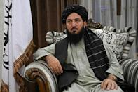 Qari Salahuddin Ayoubi, one of the Taliban's military commanders, has installed his company of 150 men in the mansion (AFP/Wakil KOHSAR)