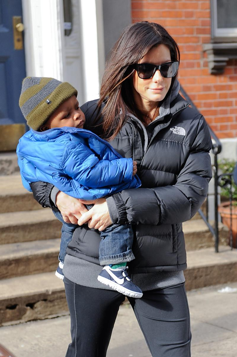 What Sandra Bullock Says to Her Son About Race