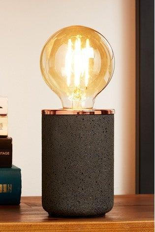 """I always have the 'big light' on but I want to make my bedroom feel really snug in the evenings. I've been looking for a small, modern, chic lamp for so long and I've finally found one I like. The LED bulb really makes it.<br><br><strong>Next</strong> Seb Table Lamp, $, available at <a href=""""https://www.next.co.uk/style/st298978/688397#68839"""" rel=""""nofollow noopener"""" target=""""_blank"""" data-ylk=""""slk:Next"""" class=""""link rapid-noclick-resp"""">Next</a>"""