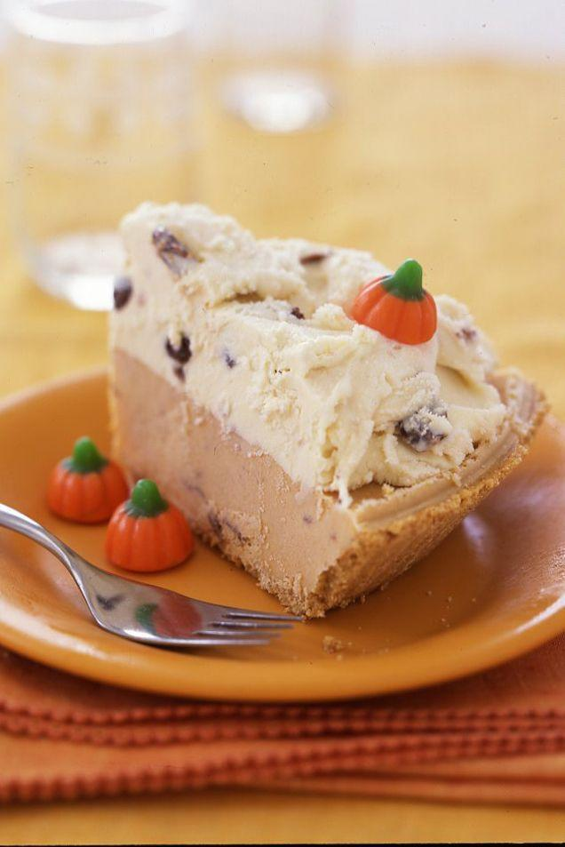 """<p>Who says ice cream cake is just for summer? Top this easy no-bake cake with <a href=""""https://www.amazon.com/Fall-Mellowcreme-Pumpkins-Candy-Approx/dp/B005PWDBN6/?tag=syn-yahoo-20&ascsubtag=%5Bartid%7C10070.g.1664%5Bsrc%7Cyahoo-us"""" rel=""""nofollow noopener"""" target=""""_blank"""" data-ylk=""""slk:candy corn pumpkins"""" class=""""link rapid-noclick-resp"""">candy corn pumpkins</a> for an extra festive touch.</p><p><a href=""""https://www.womansday.com/food-recipes/food-drinks/recipes/a18355/smores-pumpkin-chip-ice-cream-cake-rbk1107/"""" rel=""""nofollow noopener"""" target=""""_blank"""" data-ylk=""""slk:Get the recipe for S'Mores Pumpkin Chocolate-Chip Ice Cream Cake."""" class=""""link rapid-noclick-resp""""><em>Get the recipe for S'Mores Pumpkin Chocolate-Chip Ice Cream Cake.</em></a></p>"""