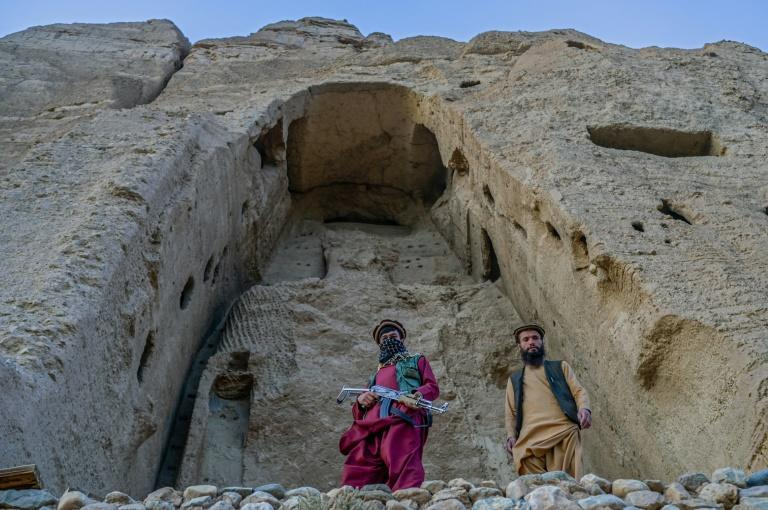 The Buddha monuments in Bamiyan province had stood for 1,500 years but were destroyed in 2001 by the Taliban, who said they were against the Muslim faith (AFP/BULENT KILIC)