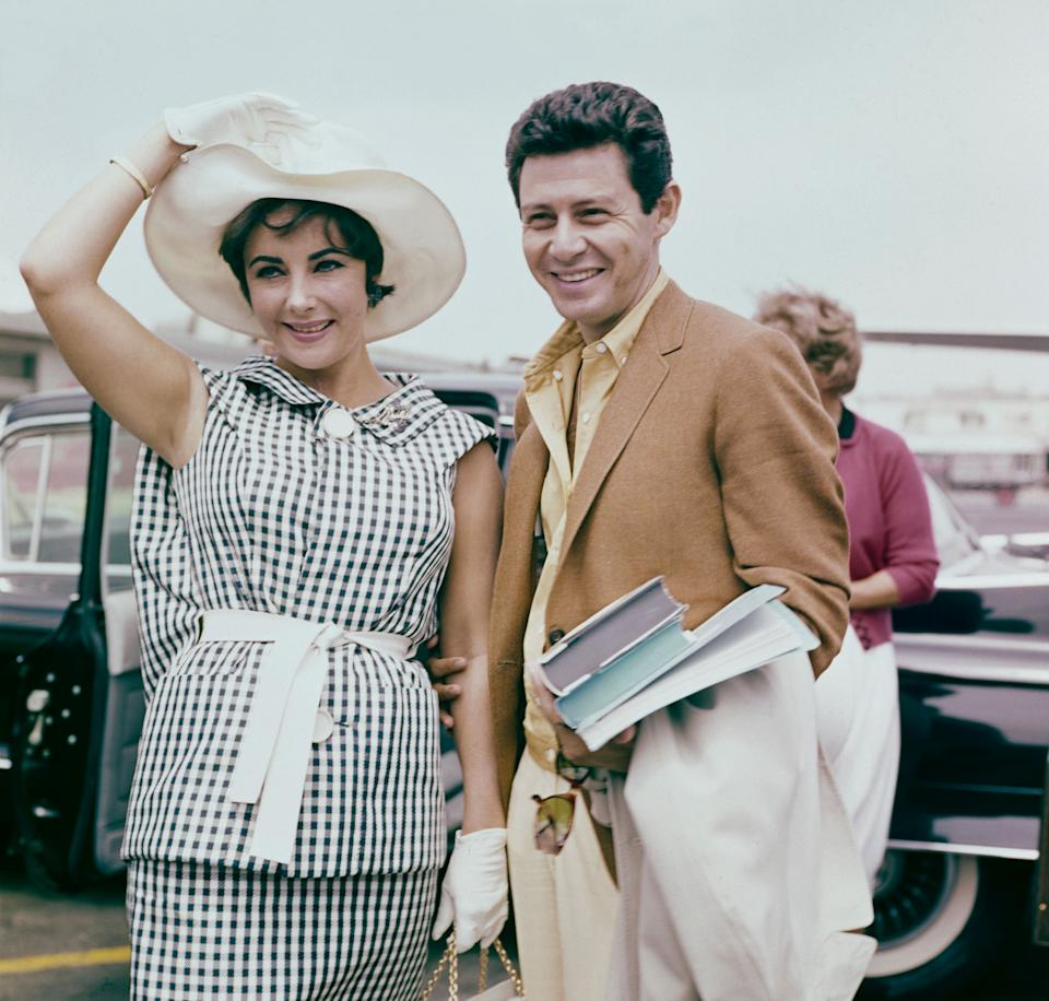 Taylor, seen here with Eddie Fisher, circa 1960.