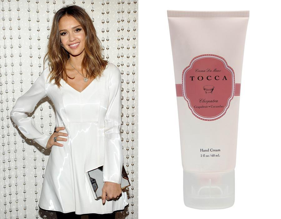 "<p>Coconut oil combines with avocado oil, aloe, shea butter, and chamomile in one of Jessica Alba's favorite hand creams, <a href=""http://www.tocca.com/collections/beauty-bath-body-hand-cream"" rel=""nofollow noopener"" target=""_blank"" data-ylk=""slk:TOCCA Crema da Mano"" class=""link rapid-noclick-resp"">TOCCA Crema da Mano</a> ($10-20), which comes in eight of the brand's signature scents. (Our favorite is Cleopatra, with notes of grapefruit and cucumber.)</p><p><i>(Photo: Getty Images/TOCCA)</i><br></p>"