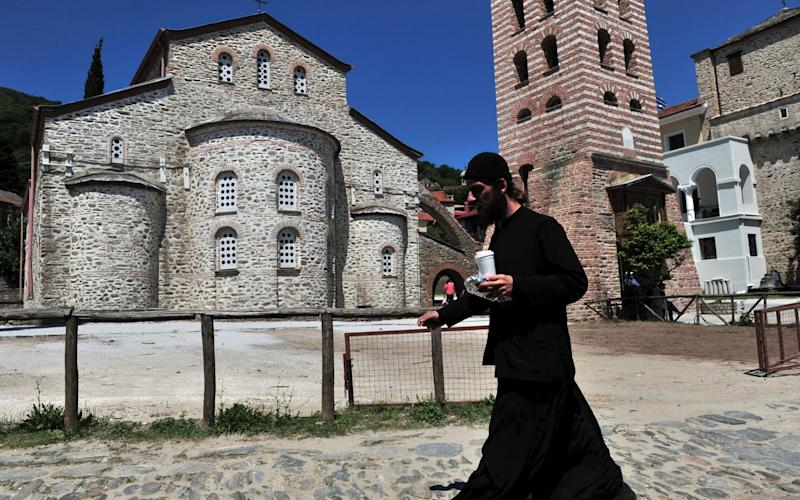 Around 2,000 monks live on the peninsula known collectively as Mt Athos - AFP