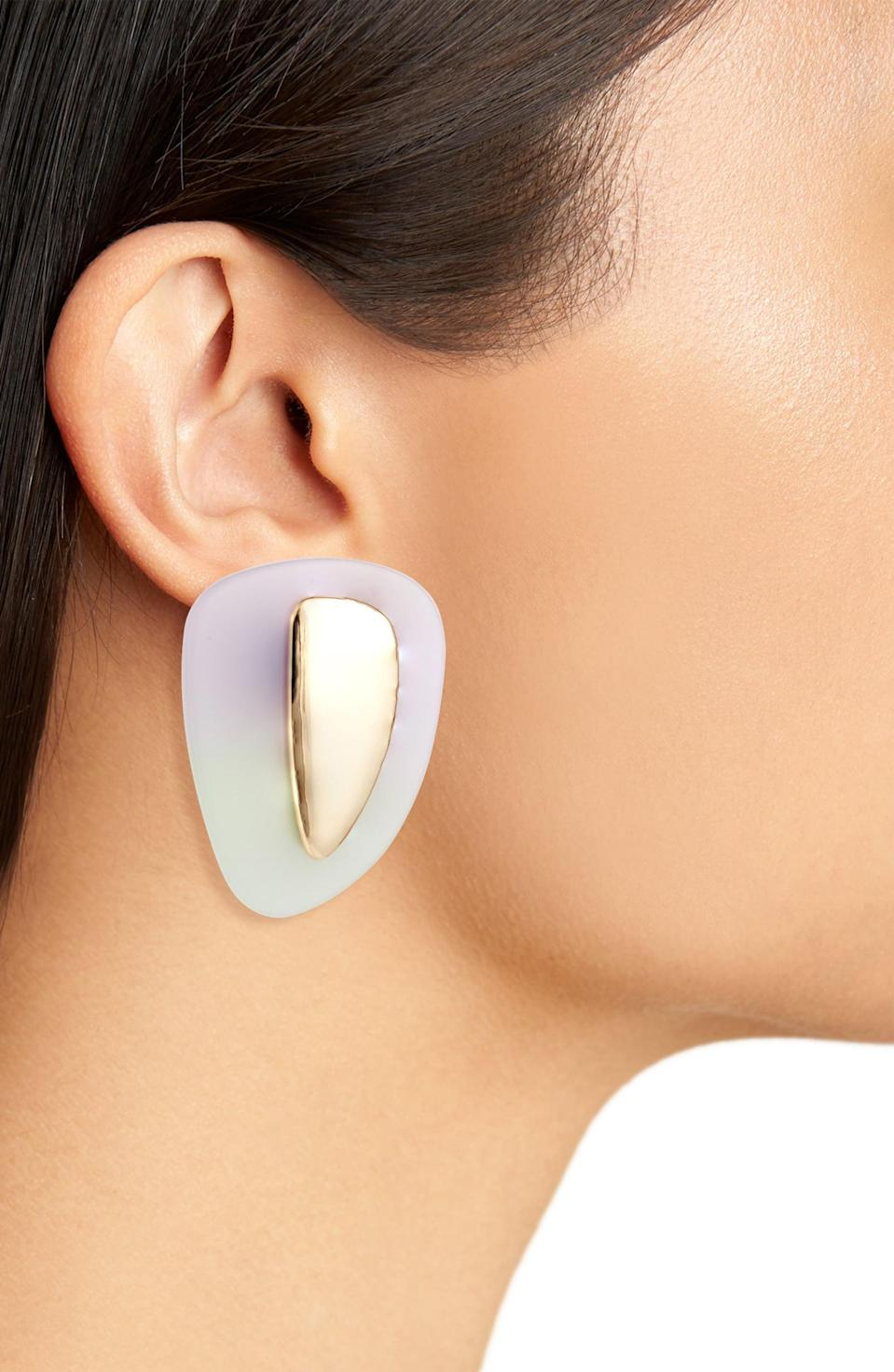 <p>These <span>Open Edit Ombré Clip-On Earrings</span> ($15) are so cool to look at.</p>