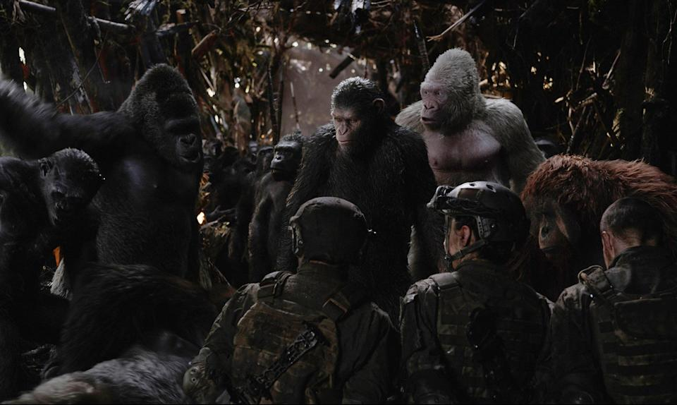 <p>Director Matt Reeves managed to tell one of the most earnest, compelling stories of a complicated leader fighting for survival in 2017. It just so happened that that leader is an ape named Caesar. Andy Serkis continues to be overlooked during awards season for his motion capture work, and it's unfortunate because his performance was so visceral and lived-in that it made for heart-pounding scenes between his ape and costar Woody Harrelson. <em>— W.L. </em>(Photo: Everett Collection) </p>