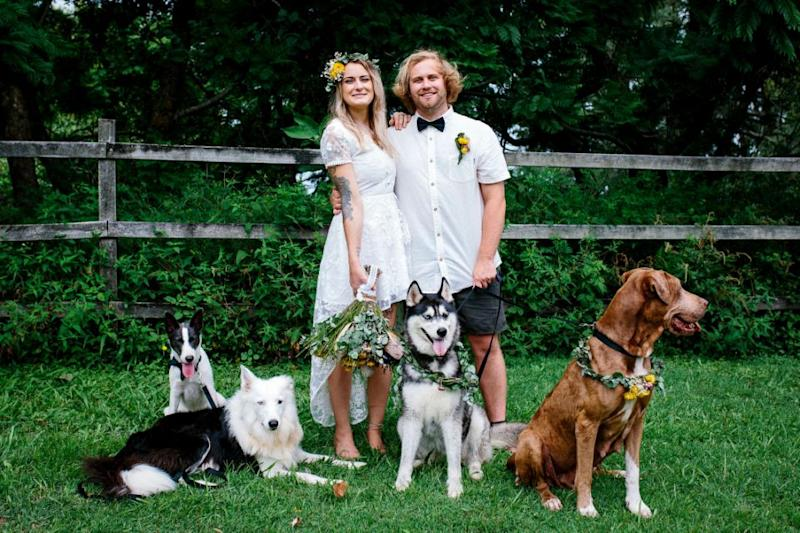 Would you trust your dog to film your wedding? Photo: Erin Simpson E.L Simpson Photography/Caters News