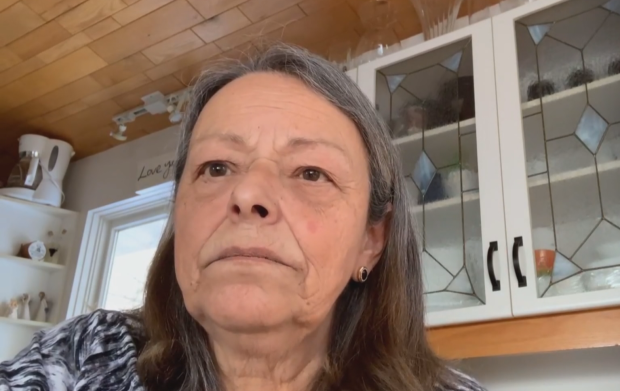 Sen. Pierrette Ringuette, seen here speaking with CBC Marketplace. says she wants to see 'abusive' lending practices stopped and interest rates capped at 20 per cent.