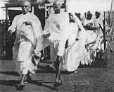 Mahatma Gandhi on his way to Congress, 1932 (Photo by Universal History Archive/Getty Images)