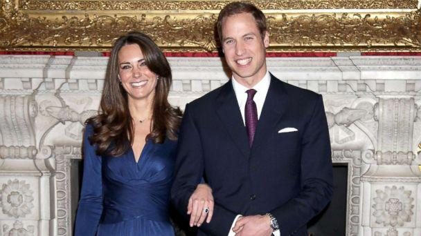 PHOTO: Prince William and Kate Middleton pose for photographs in the State Apartments of St James Palace, Nov. 16, 2010, in London. (Chris Jackson/Getty Images)