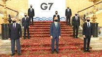 Officials were able to pose for the first G7 foreign and development ministers 'family photo' in more than two years