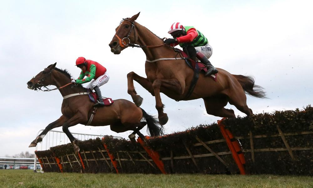 Definitly Red (right) is the form pick for The Grand National, but he doesn't have much form on the kind of good ground that is likely at Aintree this year.