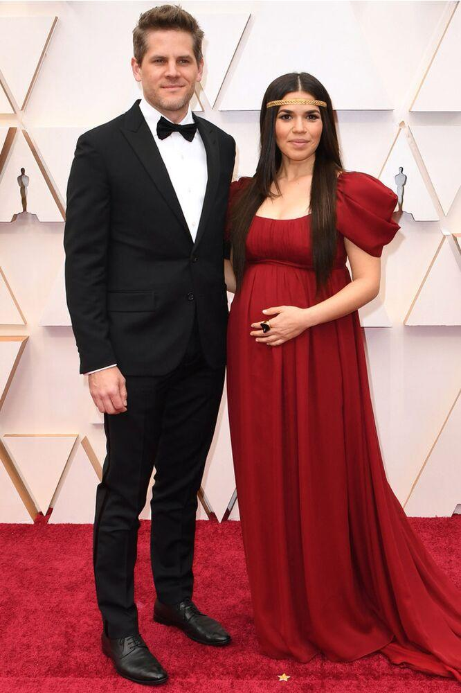 Ryan Piers Williams and America Ferrera | ROBYN BECK/Getty Images