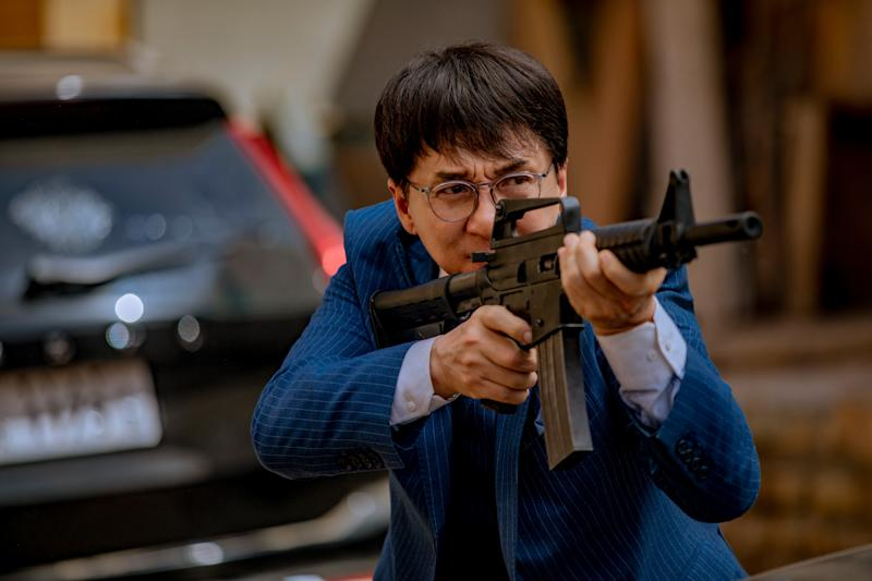 Jackie Chan stars as the leader of an independent security team in Vanguard. (Photo: mm2 Entertainment)