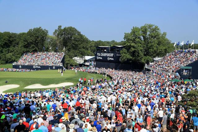Decent crowds showed up at the PGA Championship. (Getty)