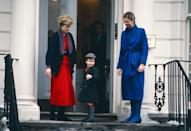 """<p>Princess Diana accompanies Prince William on his first day of school (at <a href=""""https://www.townandcountrymag.com/leisure/news/a8101/wetherby-pembridge-new-york/"""" rel=""""nofollow noopener"""" target=""""_blank"""" data-ylk=""""slk:Wetherby School"""" class=""""link rapid-noclick-resp"""">Wetherby School</a>).</p>"""