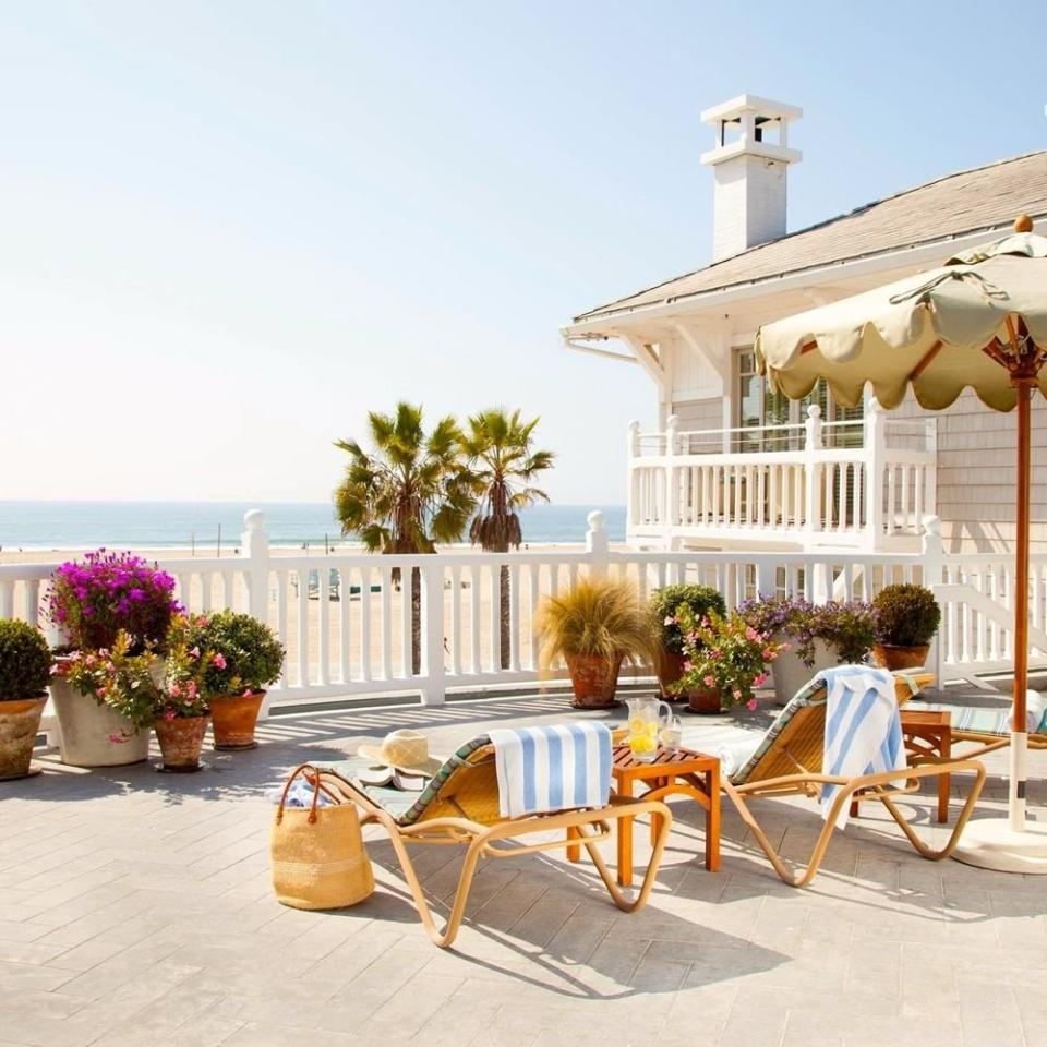 """<p><strong>Santa Monica, California</strong></p> <p><strong>Book It: </strong><a href=""""http://www.anrdoezrs.net/links/7885612/type/dlg/sid/CL%2CShuttersontheBeach%2Csimsj%2CTOP%2CIMA%2C160038%2C201907%2CI/https://www.tripadvisor.com/Hotel_Review-g33052-d113252-Reviews-Shutters_on_the_Beach-Santa_Monica_California.html"""" target=""""_blank"""">Shutters on the Beach</a></p> <p> I love Shutters for its pure California vibe with a low-key but assured sophistication. It's also right on one of the best stretches of sand in the state. And you cannot beat the neighboring Santa Monica Pier for old-fashioned summer fun and seafood, Ferris wheel and all. </p>"""