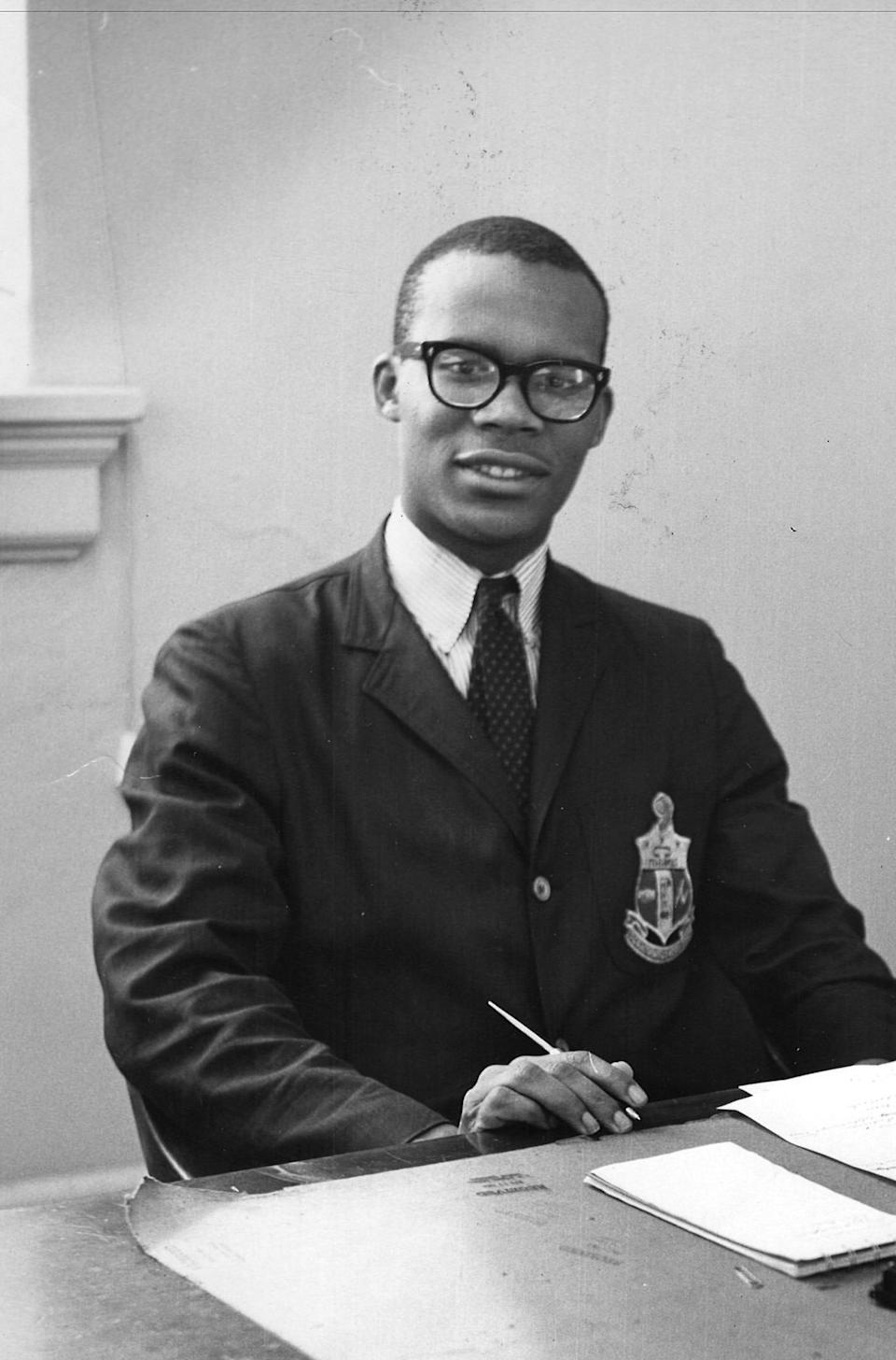 Larry Gibson as a student at Howard University. Gibson was a Howard University sophomore when he and his classmates participated in the November 1961 sit-ins being conducted throughout Anne Arundel County as part of the Route 40 desegregation campaign in Maryland. Two years later, he would be Howard's student body president.