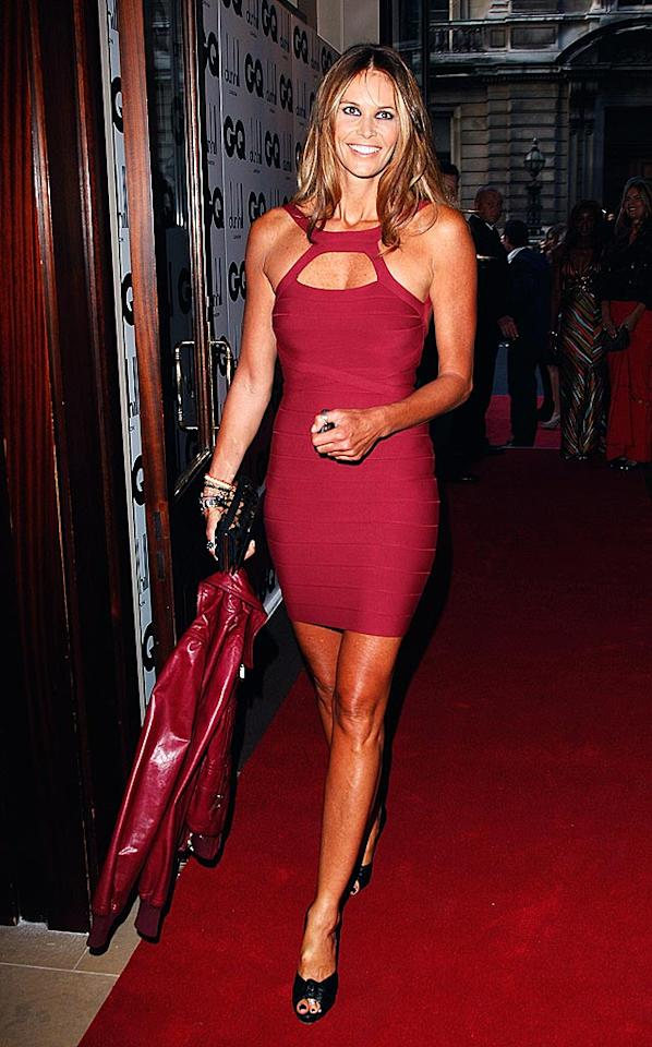 """Supermodel Elle Macpherson also showed some skin in a crimson cut-out halter dress. Jon Furniss/<a href=""""http://www.wireimage.com"""" target=""""new"""">WireImage.com</a> - September 2, 2008"""