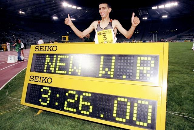 <p>Legendary Moroccan middle-distance runner El Guerrouj stands to lose an incredible five world records. </p>