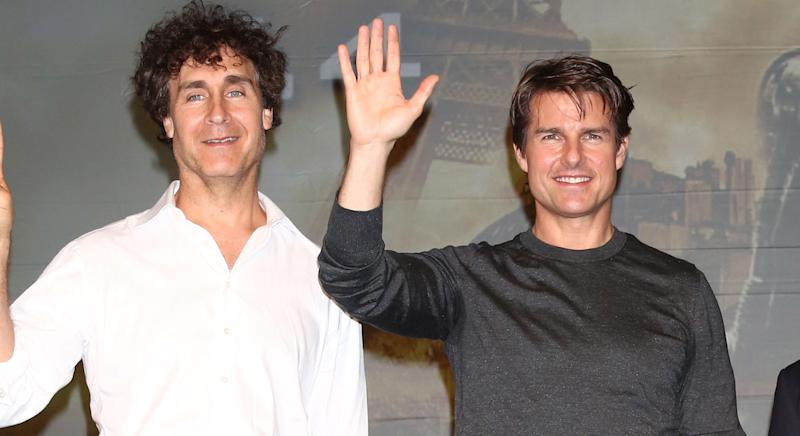 Doug Liman and Tom Cruise on the promo trail for 'Edge of Tomorrow' in Japan (Getty Images)