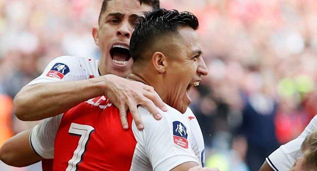 Alexis Sanchez, celebra tras anotar para el Arsenal (Foto: AP Photo/Kirsty Wigglesworth)