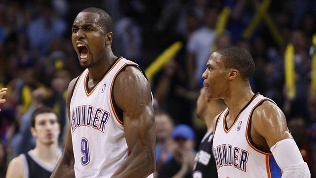 NBA - Ibaka powers Thunder past Spurs in West battle
