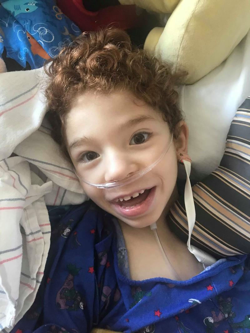 Noah Jakeman is recovering in the ICU of Phoenix Children's Hospital. (Photo: Alex Jakeman)