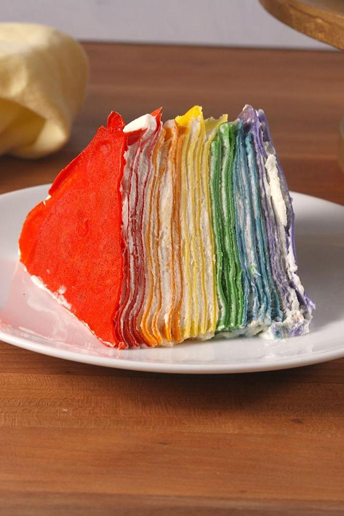 <p>This crepe cake beats all other rainbow recipes.</p><p>Get the recipe from <span>Delish</span>.</p>