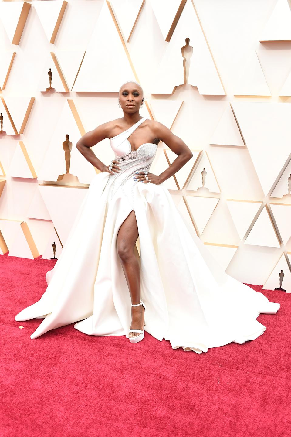 """The """"Harriet"""" star and Best Actress nominee wore a gown created for her by Atelier Versace."""