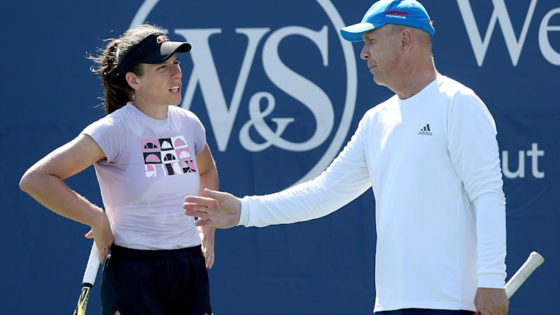 Johanna Konta and Thomas Hogstedt, pictured here at the Western & Southern Open.