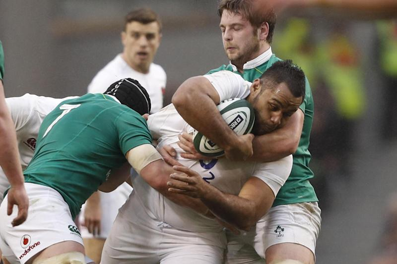 Stuck in: Billy Vunipola wants more game time after his first Test start of the year: AFP/Getty Images