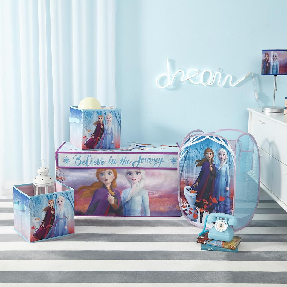 With a toy trunk, roomy hamper, and two cubes, this set is a storage wonderland! (Photo: Walmart)